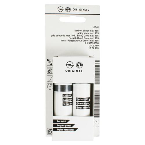 ORIGINALE Opel vernice penna di carbonio argento met 1772195 z195 Shiny Grey 195,h05